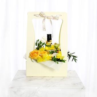 Glimmer Of Hope (Orange Roses with CornerStone Sauvignon Blanc)