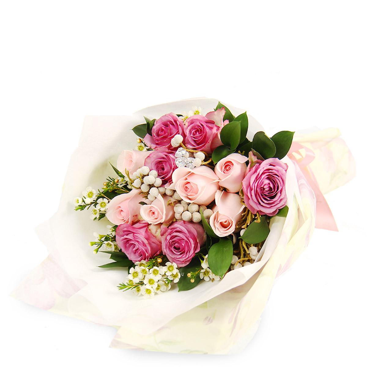 DM1701 Glamorous Elegance pink yam roses bq