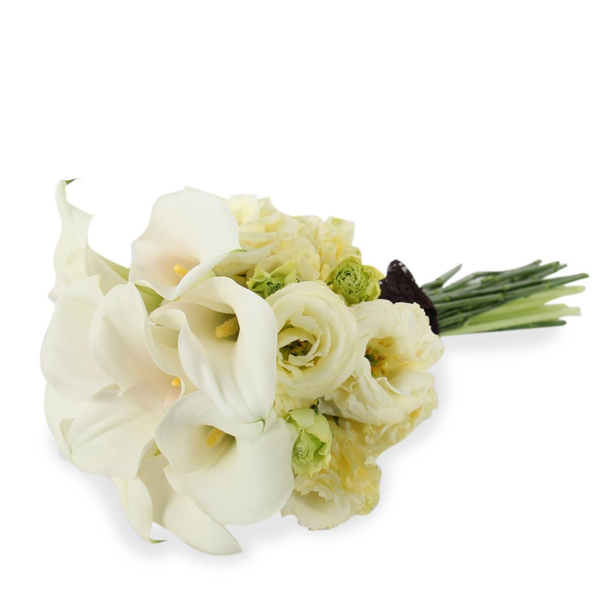 WB1612 white calla lilies bridal bouquet