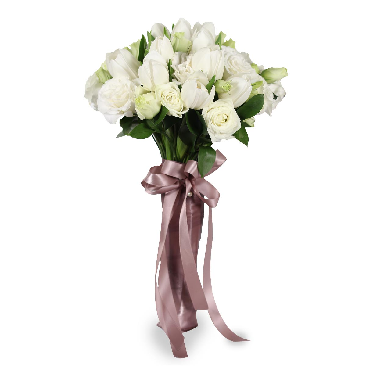 WB1619 white bridal bouquet