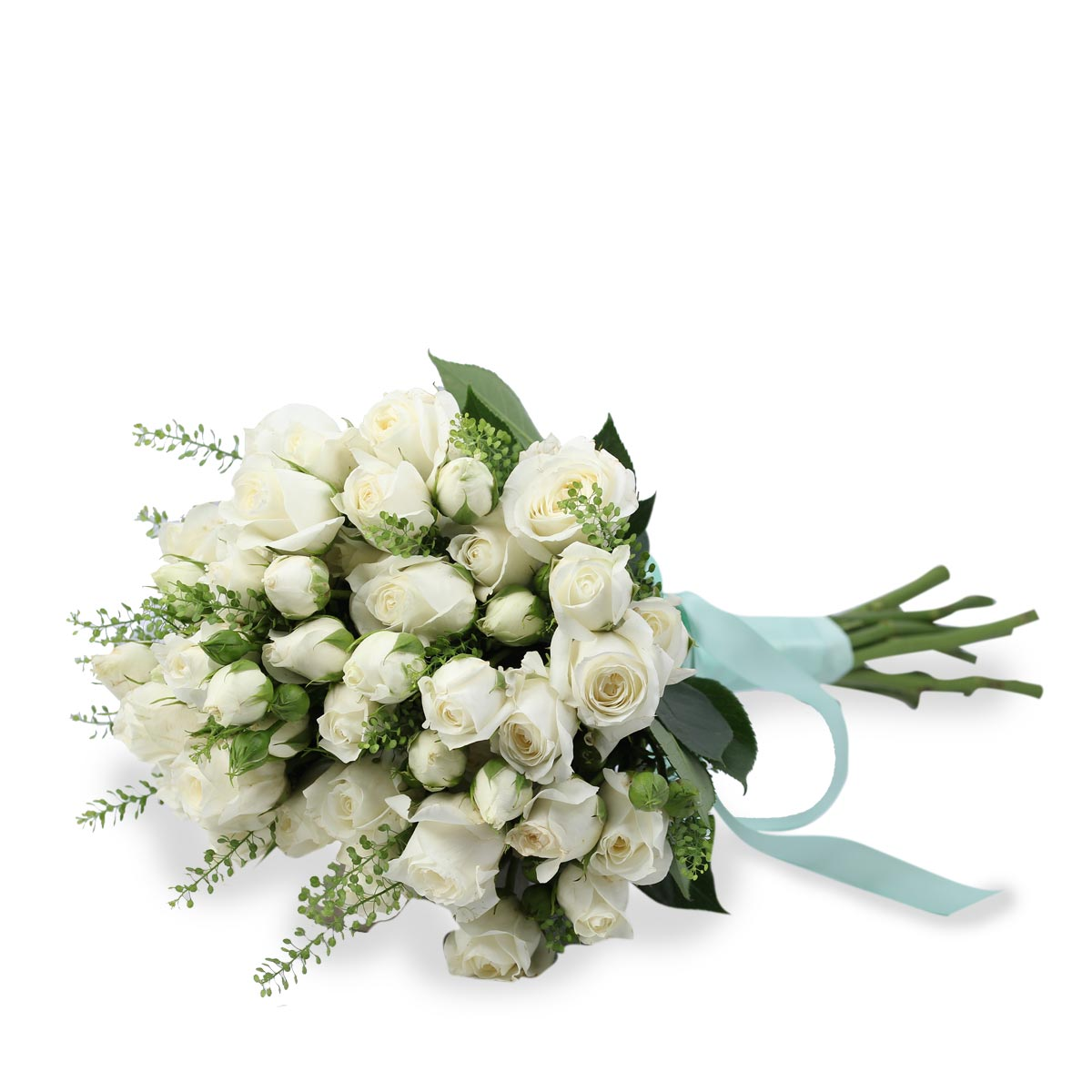 WB1633 ivory cream rose bridal bq