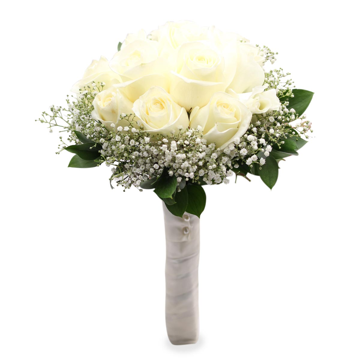 WB1635 white bridal bouquet