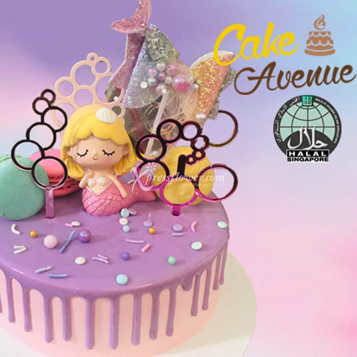 Happy Birthday - Mermaid (Cake Avenue)