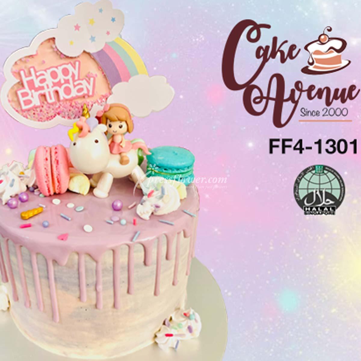 Buttercream Drip - Girl & Unicorn (Cake Avenue)