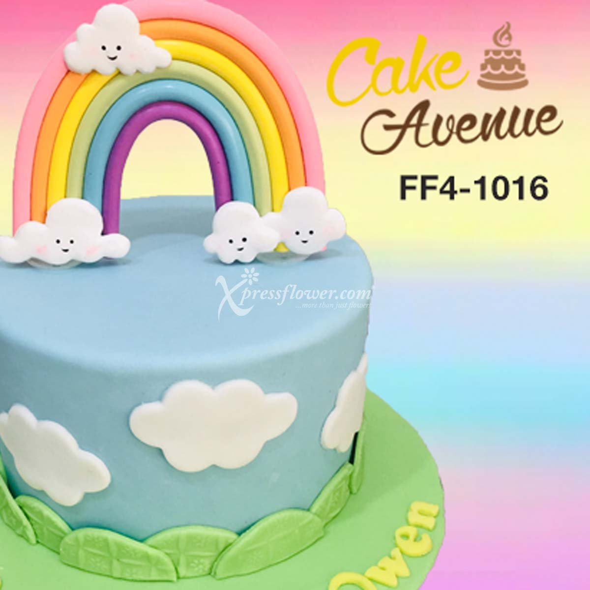 Single Tier Rainbow (Cake Avenue)