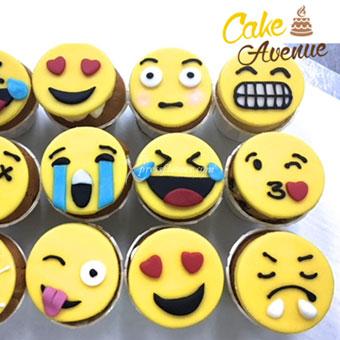 Emoticon - 12pc (Cake Avenue)