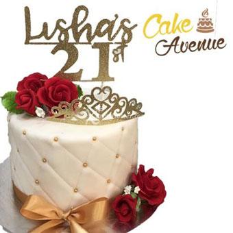 Red Rose with Tiara (Cake Avenue)
