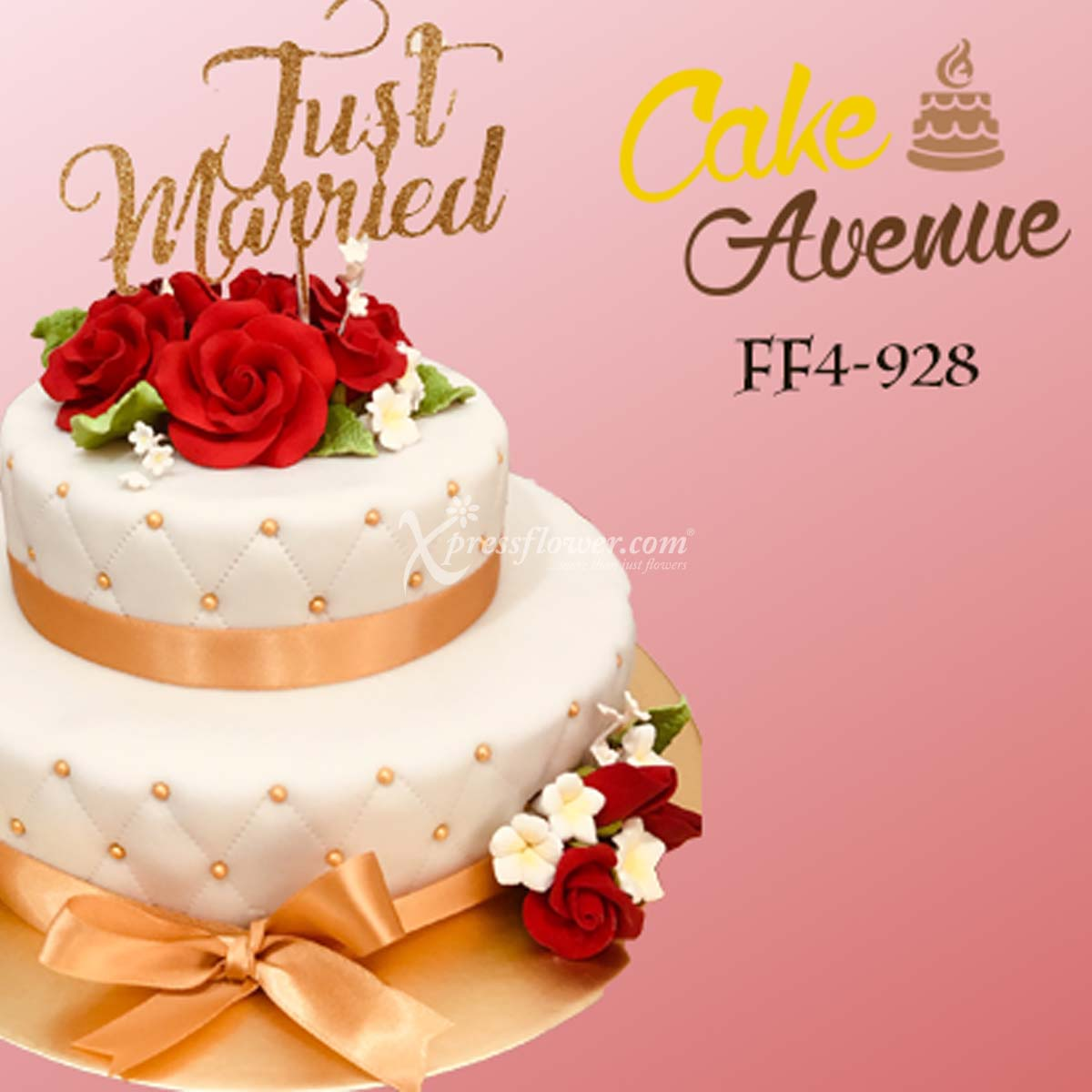 Red Roses - 2 Tier (Cake Avenue)