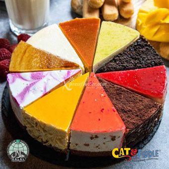 Fickle Feline 10 Flavour Assorted Cheesecake (Cat & The Fiddle)
