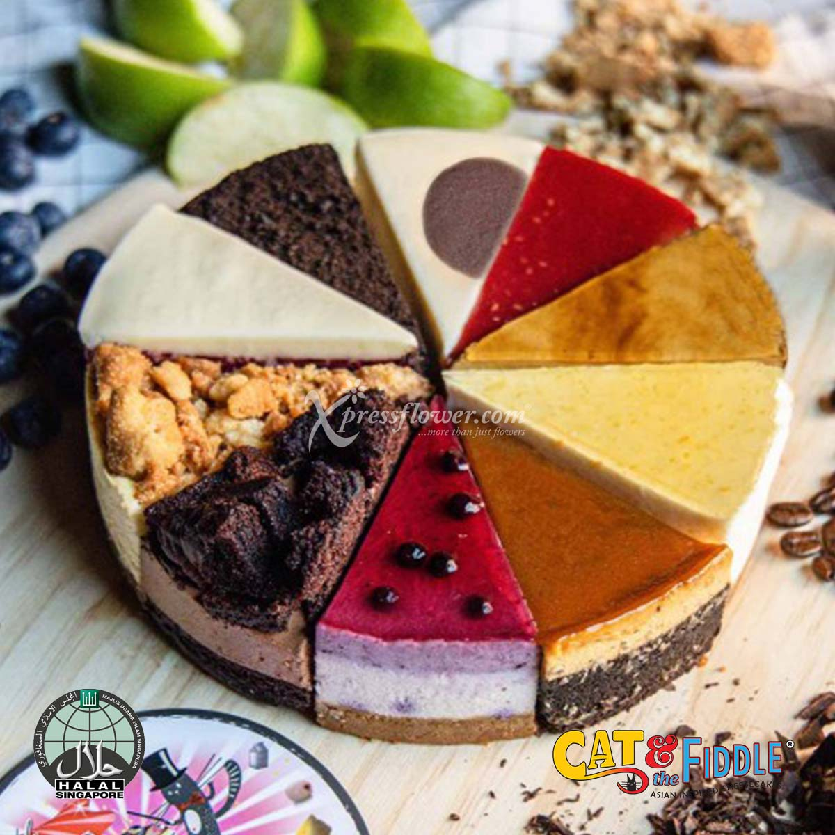 Fickle Feline 2.0 10 Flavour Assorted Cheesecake (Cat & The Fiddle)