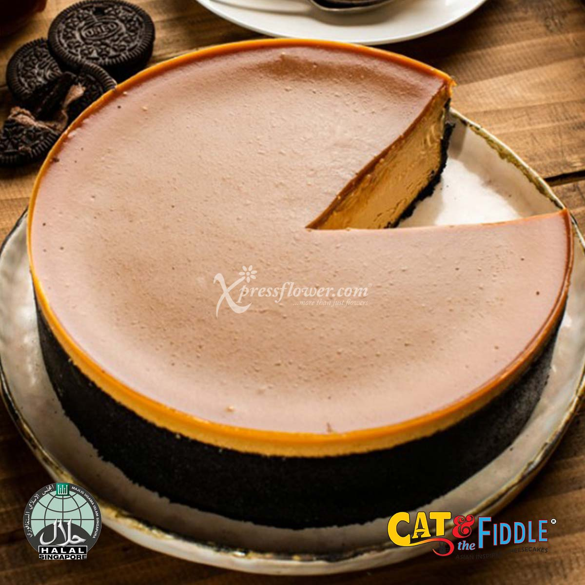 Sweet and Smokey Taffy Salted Caramel Cheesecake (Cat & The Fiddle)