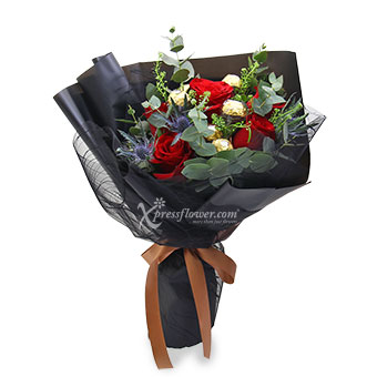 Pristine Touch (6 Red Roses with 6 Ferrero Rocher Chocolate)