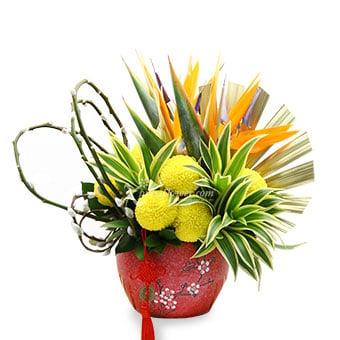 Joy Luck (CNY Flower Arrangement)
