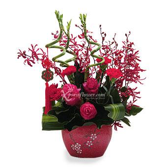 Lucky Hong Bao (CNY Flower Arrangement)
