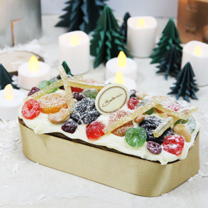 Aged Fruit Cake Yuzu Frosting