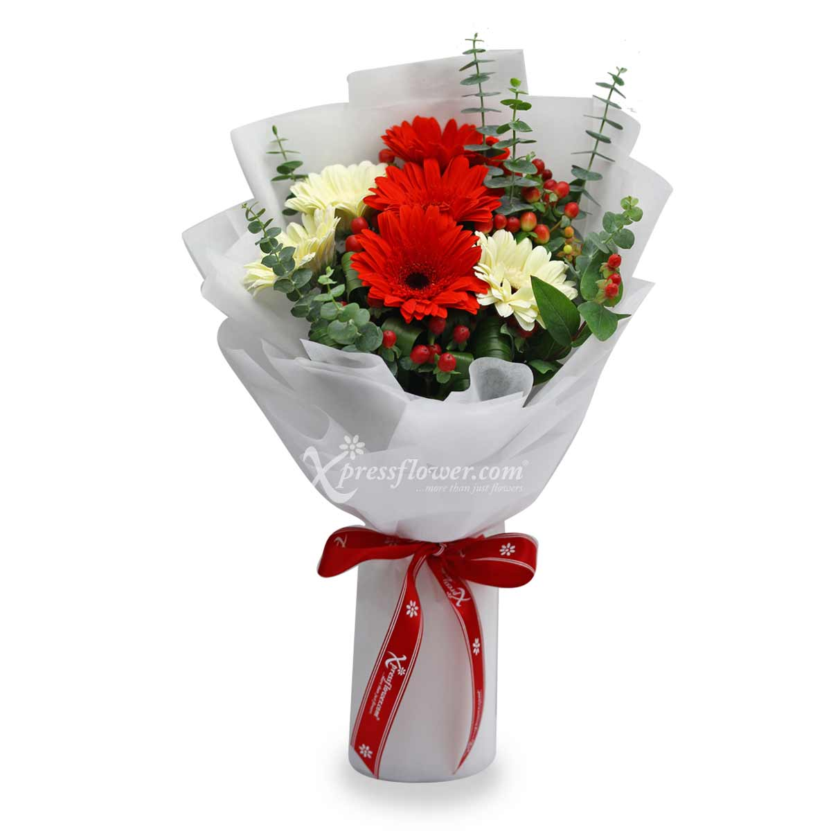 XMM1981 Chimney Treats flower and gift