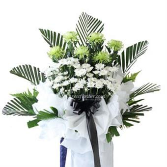 Evergreen Love (Funeral Condolence Flower Wreath)