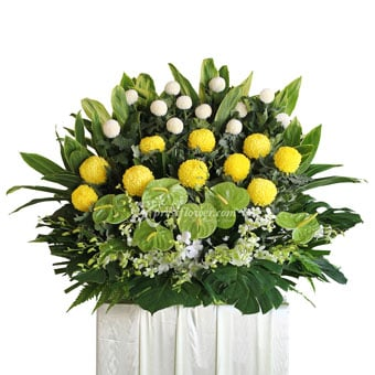 Eternal Sanctuary (Funeral Condolence Flower Wreath)