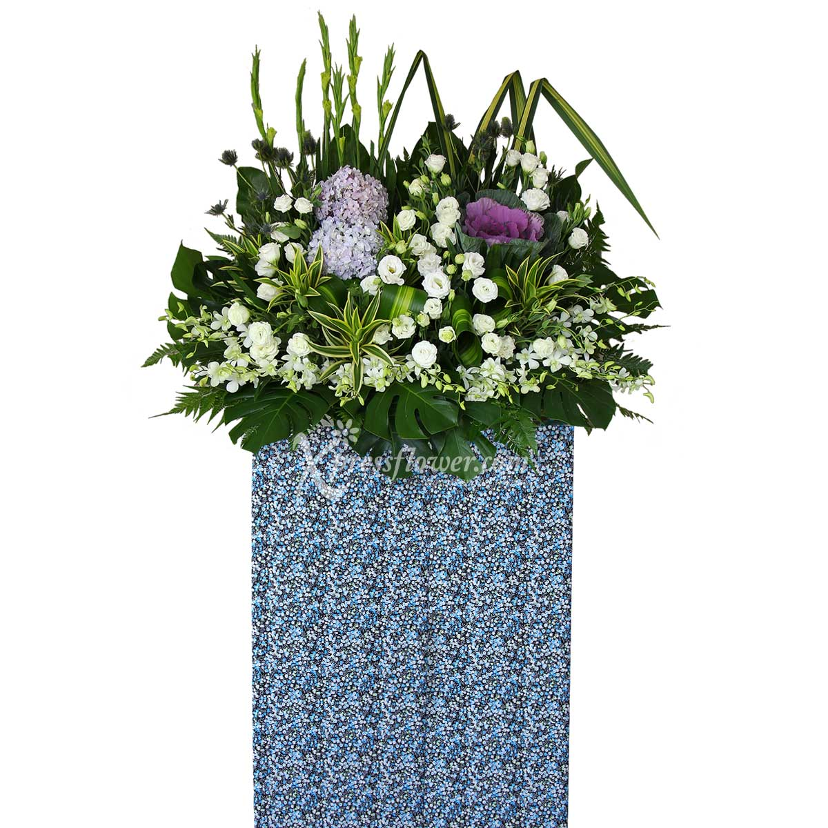 SCP1801 Thoughts Of Comfort Wreath Funeral & Condolence Flower Stands