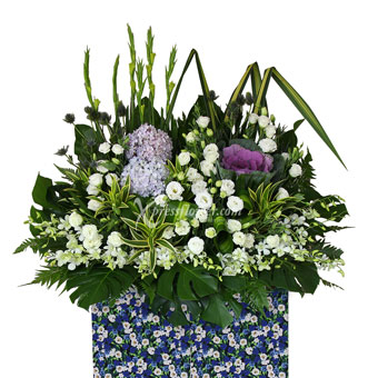 Thoughts of Comfort (Premium Funeral Condolence Flower Wreath)