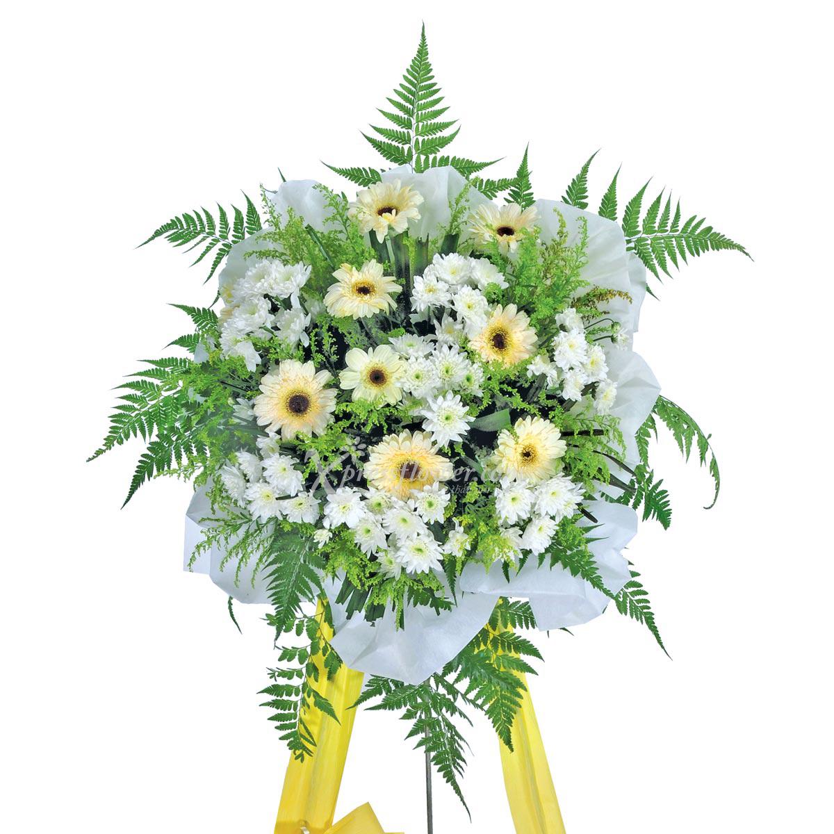 SC006 Deepest Reverence gerbera chrysanthemum condolance stand