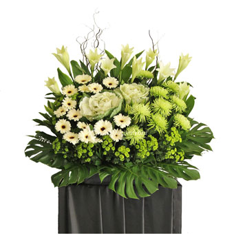 Enduring Beset (Funeral Condolence Flower Wreath)