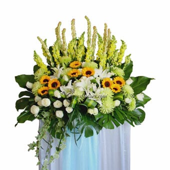 Support and Solace (Funeral Condolence Flower Wreath)