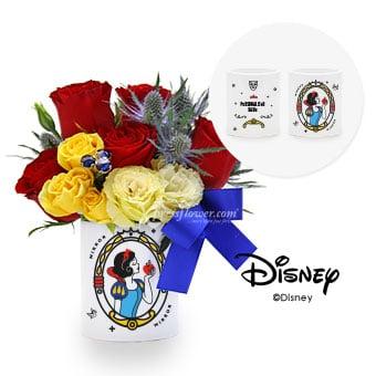 Forbidden Apple (Personalised Disney Snow White Flower Arrangement)