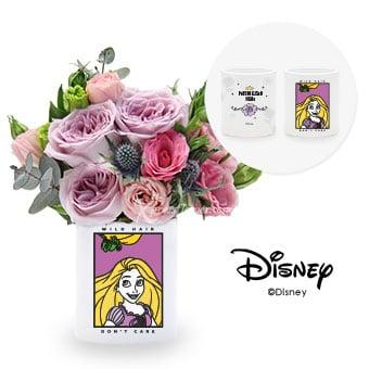 Tangled Hearts (Personalised Disney Rapunzel Flower Arrangement)