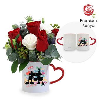 Flaming Soul (6 stalks Red Premium Kenya Roses)
