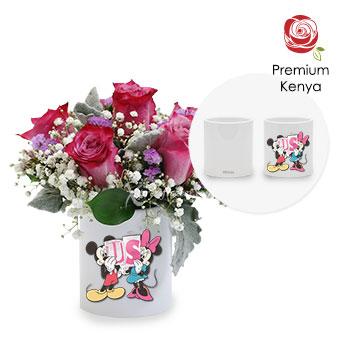 Hearts Ablaze (6 stalks Premium Kenya Purple Roses)