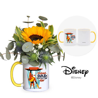 Powers Dad Be! (1 sunflower with Disney cup)