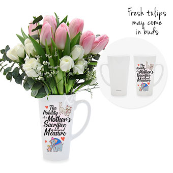 Just For Mum (9 pink tulips)