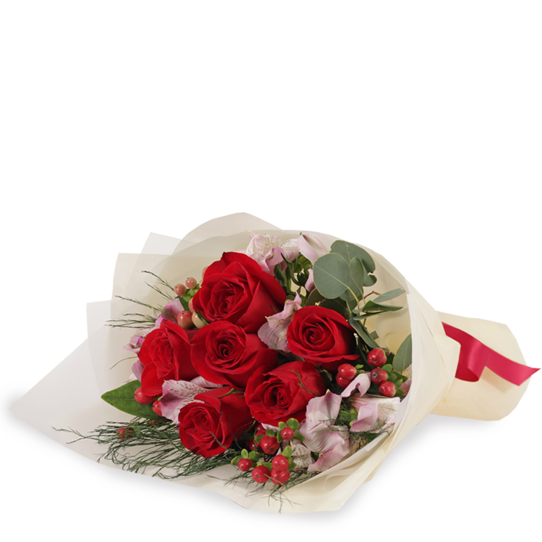 ST1702 ravishing red red roses soft toy