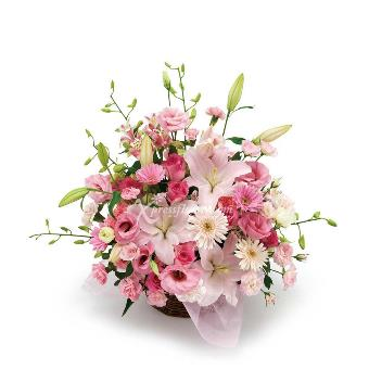 ARRANGEMENT OF PINK LILIES (JP)
