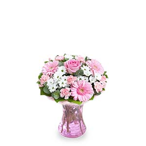 PINK-THEMED FLOWER ARRANGEMENT (UK)