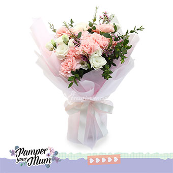 Pastel Blossoms (12 pink carnations)