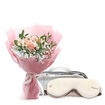 uMask Eye Massager (3 pink roses with OSIM eye massager)