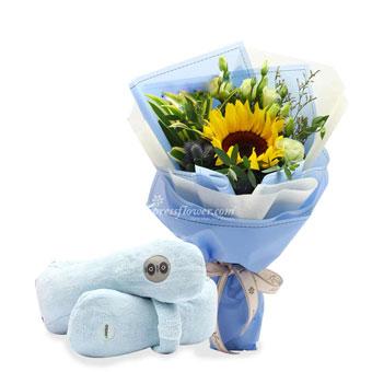 uSnooz Massage Wrap With Sunflower