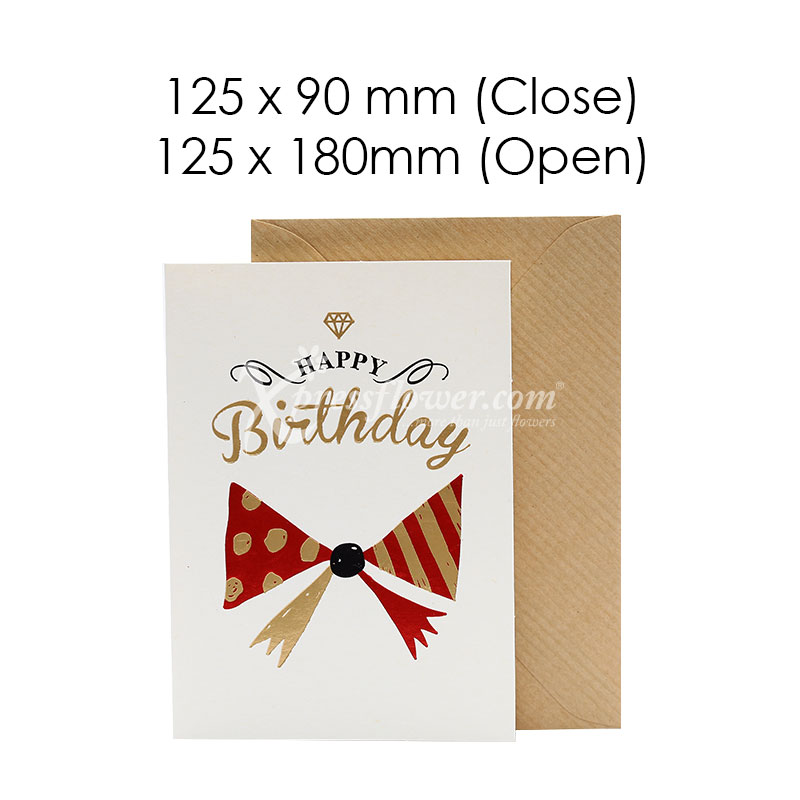 Happy Birthday Ribbon (Blank Card)