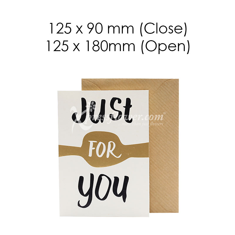 Just For You (Blank Card)