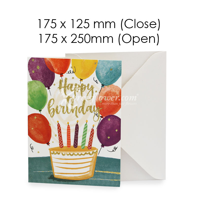 Happy Birthday Balloons A (Blank Card)