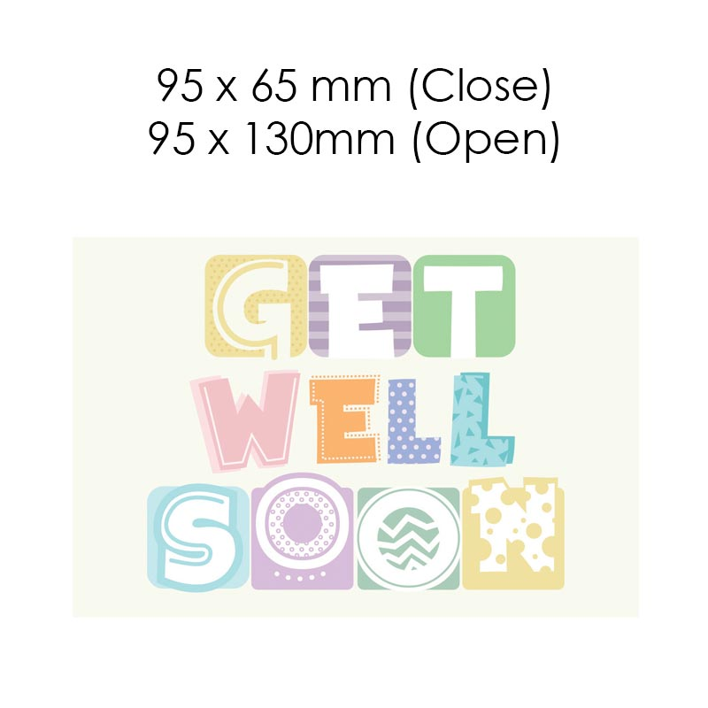 Get Well Soon - Colours (Blank Card)