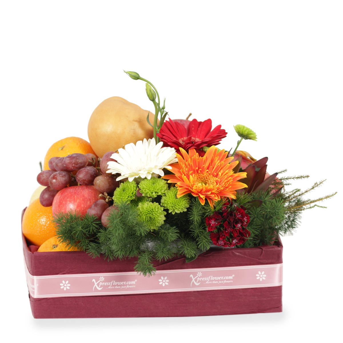 FB1112 Natural Healing fruit and flower hampers
