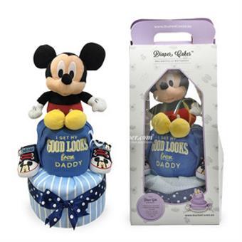 2-Tier Mickey Diaper Cake