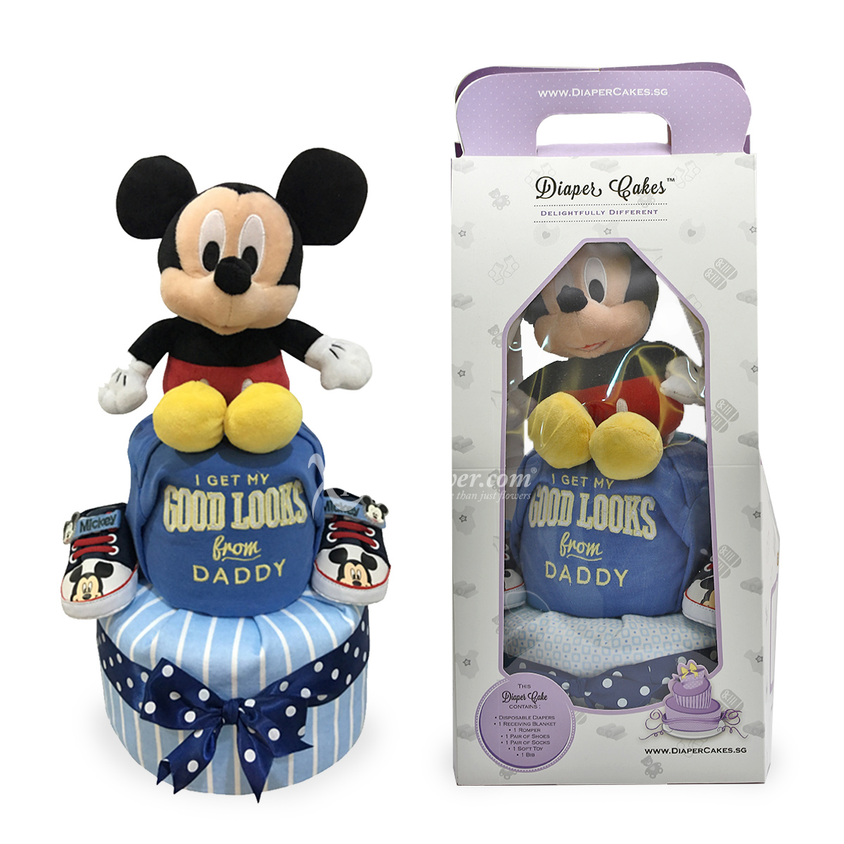 NB1726 2-Tier Mickey Diaper Cake