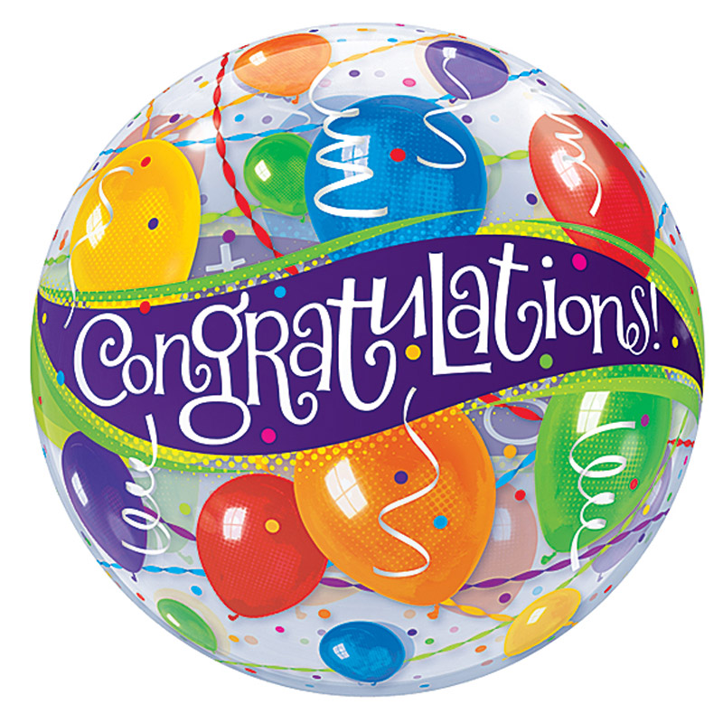 Congratulations Bubble Balloon 18A