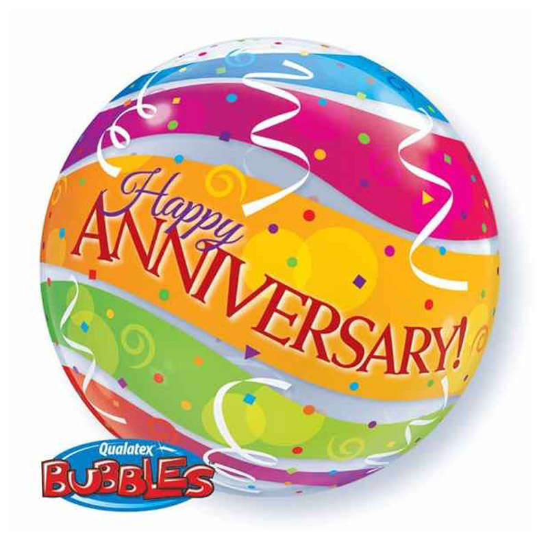 Happy Anniversary Bubble Balloon 18A