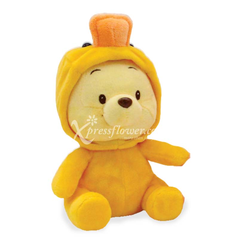 Pooh in duck costume