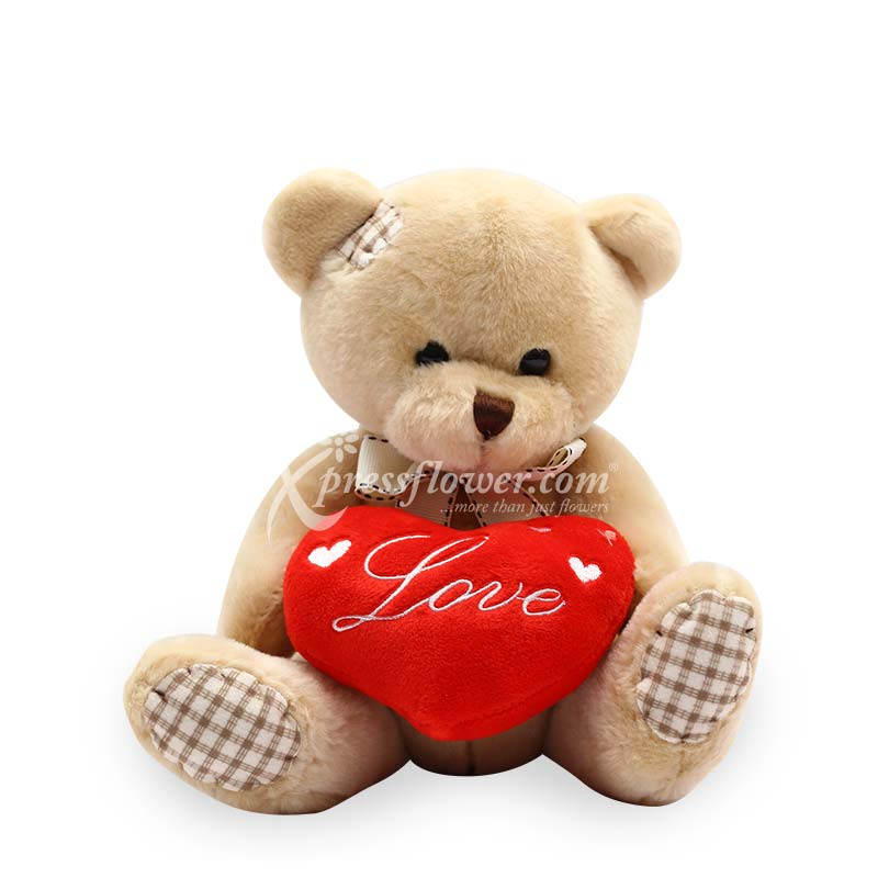 Checkered Bear With Heart